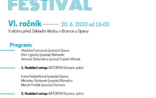 Branský literární festival je přesunut na příští rok 2021
